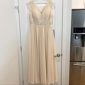 NWT Champagne Mother of the Bride Formal Dress